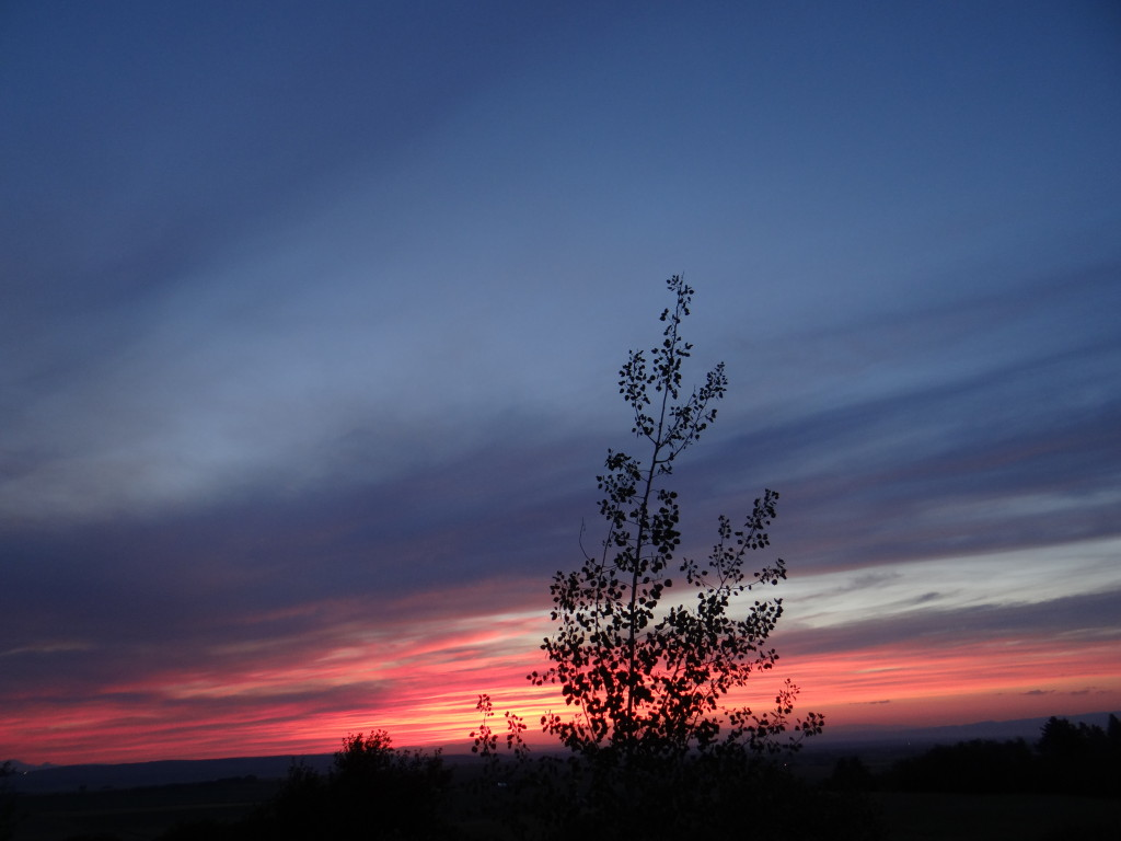 Sunset from Bozeman (click to enlarge)