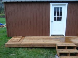 Side deck and bathroom floor